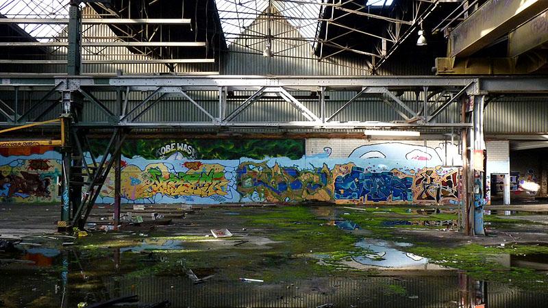 Berlin Vrlassene Industriehalle