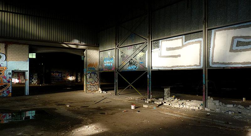 Industriehalle Verlassen