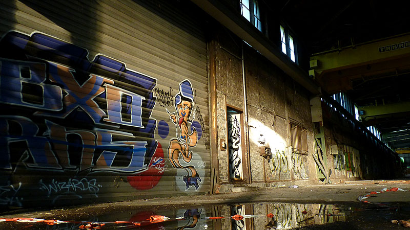 Graffiti Verlassene Halle