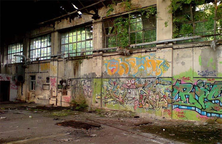 Verlassene Halle Berlin